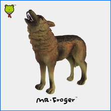 Mr.Froger Wolf Model Toy Wild Animals Toys Set Zoo modeling plastic Solid Classic Toys Children plastic cute Animal Models vivid