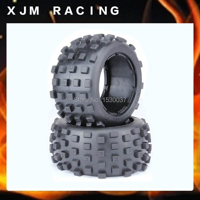 1/5 Scale RC KM RV HPI  Baja 5B Buggy Knobby Rear Wheels &amp;Tires (2)  ,free shipping<br><br>Aliexpress