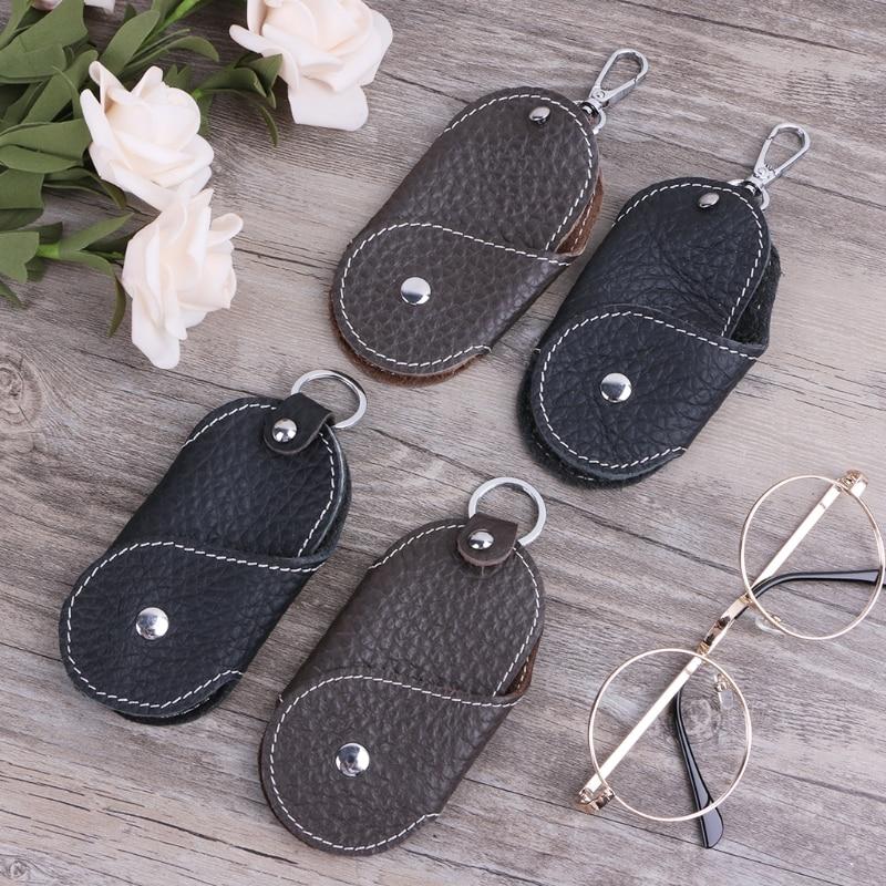 Men Fashion Leather Metal Car Keychain Keyring Purse Bag Key Chain Ring Key fob
