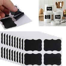 36Pcs Blackboard Chalk Board Stickers Craft Jar Labels Kitchen Office School PVC Adhesive Sticker(China)