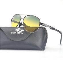 30373d28f5a88 MINCL Day   Night Vision HD de Condução Óculos Polarizados Óculos de Sol  dos homens Óculos de Condução Anti-reflexo de alumínio .