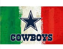 3x5ft Green white red Stripes Dallas Cowboys flag new style oil painting style flag with 2 Metal Grommets 90x150cm(China)