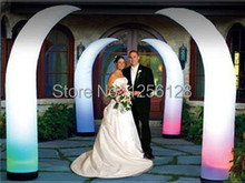 Wholesale Light Inflatable Wedding Decorations Curved Inflatable Cone Come With Fan and base