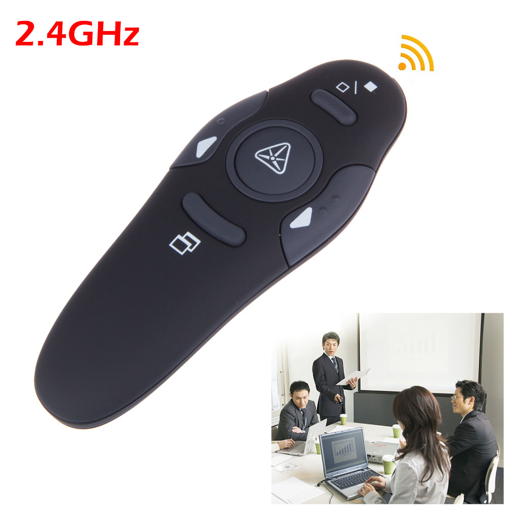 2.4GHz Wireless Presenter with Red Laser Pointers Pen USB RF Remote Control Page Turning PPT Powerpoint Presentation<br><br>Aliexpress