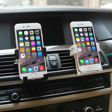 Universal Car Phone Holder For Iphone SE 7 6 6s plus Car Air Vent Stand Holder Mount For Samsung Huawei Xiaomi Mobile Phone GPS(China)