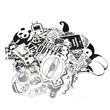 60Pcs/Set Black White Sticker bomb Case Decals Decor Not Repeating Car Decor Accessory