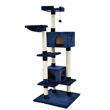 Domestic Delivery Cat Toy Scratching Wood Climbing Tree with Balls Cat Toy Climbing Frame Cat Furniture Scratching Post for Fun(China)