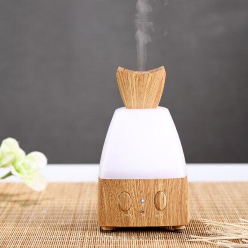 GXZ Wood Grain Flower Humidifier Ultrasonic Aroma Diffuser Essential Oil Mist Maker Mini Air Purifier Christmas Gifts<br>
