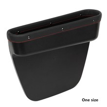 New Design Car Seat Crevice Storage Box Leather Auto Seat Gap Pocket Organizer Contect Boxes For Phone Card Cigarettes Storage