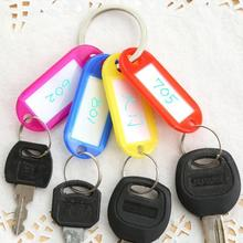 50Pcs/Lot Newly Multicolour Durable Key Card Classification Tag Keychain Key Chain Ring Hotel Number Label Tags Key Accessories