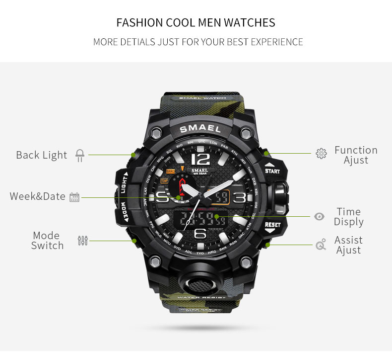 7 military quartz watch