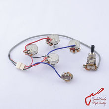 1 Set GuitarFamily Guitar Wiring Harness For SG LP Dot ( 1 Toggle Switch + 4 Pots + Jack ) ( #0582 ) MADE IN KOREA(China)