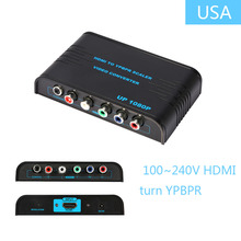 100~240V Newest 1080P HD Clear HDMI To RCA Component YPbPr video and R/L audio Adapter Converter For HDMI 1.3 and HDCP