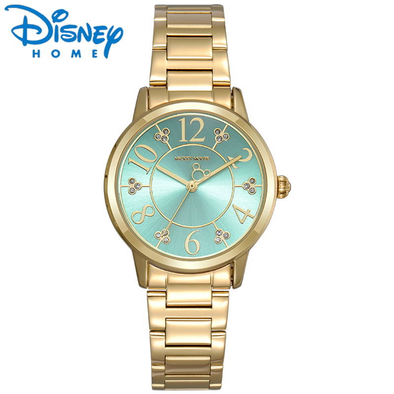 Disney Original Mickey Mouse Women Watches Rose Gold Mickey Mouse Ladies Watches Fashion Stainless Steel Watch for Woman hodinky<br>