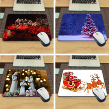 MaiYaCa Luxury Printing Happy Merry Christmas Design Durable Game Gaming PC Anti-slip Mouse Mat for Optical/Trackball Mouse