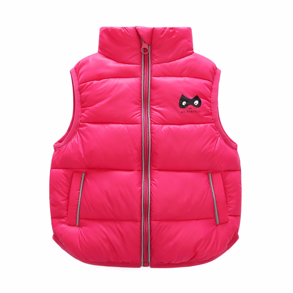 4 Bibihou 2017 Winter Kids Waistcoats children clothes Vest Warm Coat Infant sleeveless Jacket Cotton Kid Clothe Boy Girl Outwear