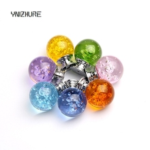 Hot 1pcs Creative Design 30mm K9 Crystal Bubble Faces Ball Knobs Furniture drawer cupboard dresser In Chrome Pull Handle