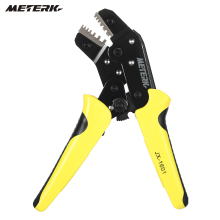 Meterk 0.25-6 mm2 Wire Crimper Engineering Ratchet Terminal Crimping Pliers Bootlace Ferrule Crimping Tool Cord End Terminals