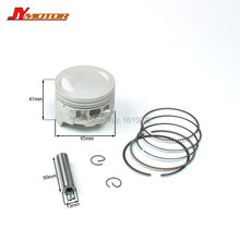 BSE bosuer 250cc  Engine Piston And Piston Ring Set 65mm for Bosuer J2 Dirt Pit Bike parts Free shipping