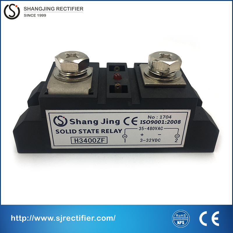 100% red copper base molybdenum chip current 400A input 3~32VDC output 35~480VAC(DC-AC)single pahse industry solid state relay <br>