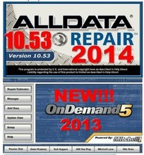 Work for any computer 2014Alldata 10.53 auto car repair software+2013 mitchell on demand with 750G hard disk(China)