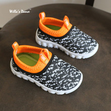 Air Mesh Children Shoes Boys Girls 2017 Summer Breathable Casual Shoes for Kids Sneakers 1-9 Years Old