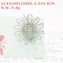 A1 SUNFLOWER PAPER/NOTE CLIP PRACTICAL/NOVELTY/CREATIVE STAINLESS HAND-MADE ART CRAFTS WEDDING&BIRTHDAY&HOME&OFFICE&GIFT&PRESENT(China)