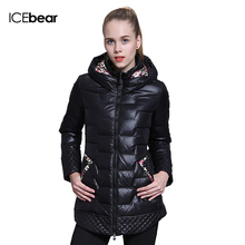 ICEbear 2015 White duck down winter brand fashion clothing Slim warm high quality jacket women coat 66112-1