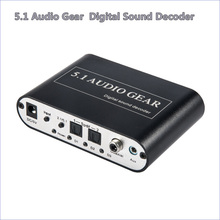 2017 New 5.1 Channel DTS/AC3 Digital Audio Converter Gear Surround Sound Rush Decoder HD players Blu-ray DVD XBOX360