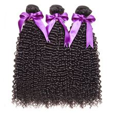 RUIYU Hair Brazilian Afro Kinky Curly Hair Weave Human Hair Bundles Non Remy Hair Extensions Natural Color 10''-28'' 1 PC only