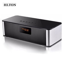 HLTON Mini Multimedia HIFI Wireless Bluetooth Speaker Handsfree Stereo FM AUX Wireless Super Bass With Mic Boombox Loudspeaker