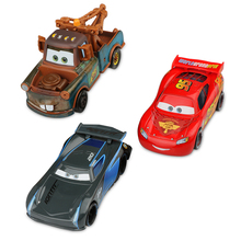 Disney Pixar Cars 3 Lightning McQueen Jackson Storm Mater Diecast Metal Birthday Christmas New Toys Gift For Children Kids Boys