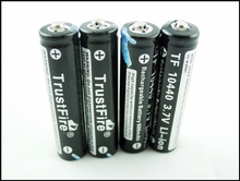 6pcs/lot high quality Original Trustfire batteries 10440 3.7v 600mAh unprotected li-ion 10440 rechargeable battery 10440 aaa