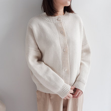 SKYISLAND Japanese style Autumn Winter Knitted Cardigans Coat Women Long Sleeve Batwing Sweater Cardigan