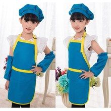 Kitchen Chef Cooking Children Apron Kids Plain Baking Painting Craft Adjustable Polyester Art Bib 8 Mix Color Styles Chioce