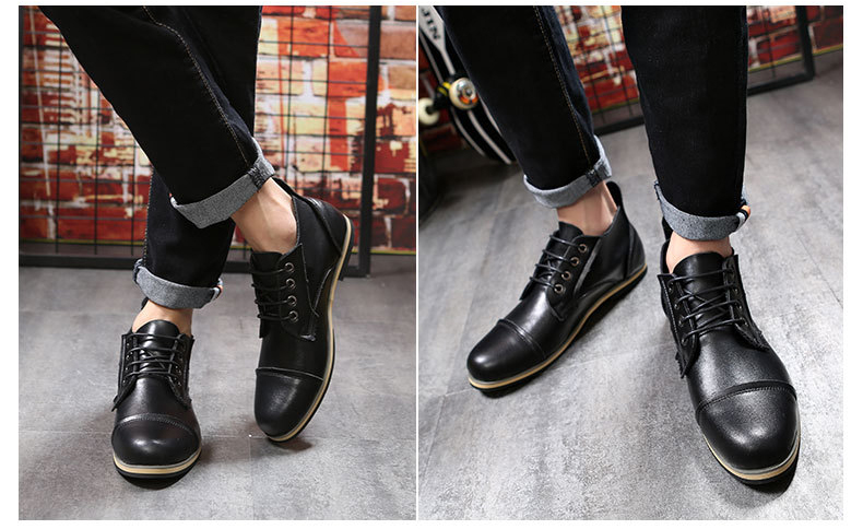 COSIDRAM Plus Size 47 Men Boots Genuine Leather High Top Men Shoes Fashion Ankle Boots For Men Winter Shoes Male Botas RMC-082 8