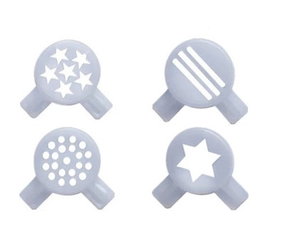 Hexagram and Fancy Modelling Caps total 4 Types for Donper soft ice cream machine 12 pcs<br>