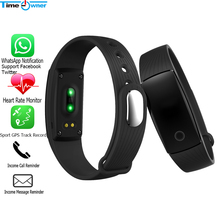 Time Owner V05c Smart Wristband Heart Rate Sleep Monitor Sport GPS Track Record Smart Bracelet for iOS Android Xiaomi Smart Band(China)