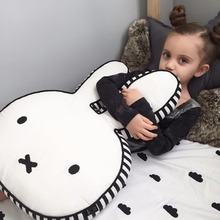 Rabbit Pillow Baby Pillow Stuffed Toys Baby Calm Doll Toys Baby Sleep Bed Car Seat Cushion Kids Portable Breastfeeding Pillows