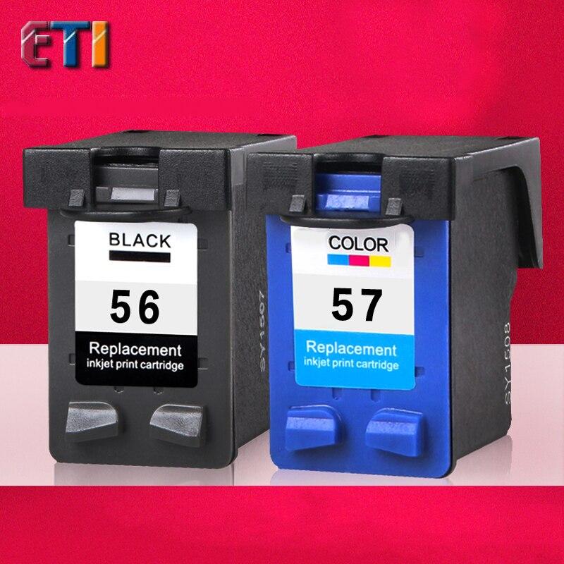 For HP56 57XL ink Cartridge, For HP 56 57 XL Officejet 4110/4255/4256/5510/5608/5609/5679/6110 Deskjet 5550/5652 450ci / 450cbi<br><br>Aliexpress