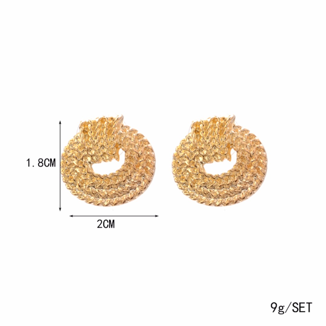 Gold Color Bean Ear Stud Earring For Women Lady Shellhard Cute Hollow Circle Earring Jewelry Party Gift boucle d'oreille femme