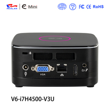 Realan V6 Barebone Mini PC Intel NUC Core i7 4500U desktop computer windows10 HTPC Network Computer Thin Client(China)
