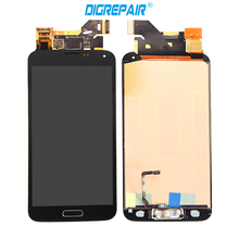 Black White For Samsung Galaxy S5 i9600 G900 G900F/M/A/P/T/V LCD display touch screen digitizer+Home button full Assembly Part