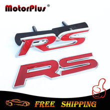 RS Grille Emblem Sticker 3D Metal For Audi Skoda Octavia Ford Focus Mondeo FRV Cruze Rio Mazda VW Opel Badge Car Styling Decor