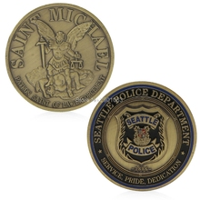 Saint Police Michael Seattle Department Commemorative Challenge Coin Collection H06(China)