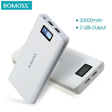 ROMOSS Sense 6 Plus LCD 20000mAh Power Bank External Battery Pack Charger Supply Station for iPhone Android(China)