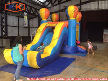 Durable PVC Hot Air Balloon inflatable jumper slide Combo kids inflatable castle slide combo