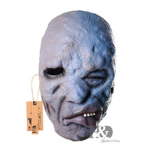 Full Face Scary Latex Mask One-eyed Lopsided Grin Deformed Ghost Horror Masquerade Ghost Halloween Props Costumes Fancy Dress