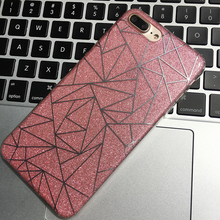 shining cover for iphone 6s iphone 7 case luxury fashion 3d vision for iphone 6 case  TPU+Acrylic 360 protector bag for iphone