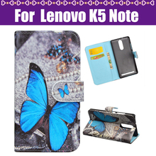 J&R Cover For Lenovo K5 Note Moblie Case Cartoon Fashion Painted PU Stand Flip Leather Cover Case For Lenovo K5 Note Phone Case